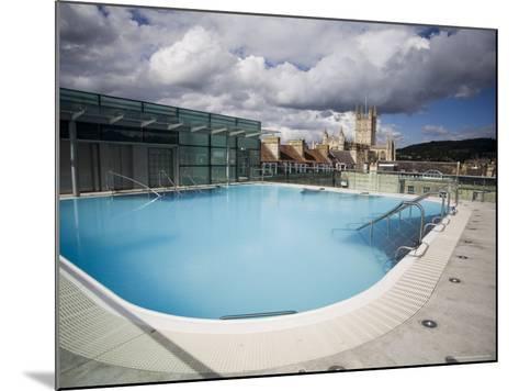 Roof Top Pool in New Royal Bath, Thermae Bath Spa, Bath, Avon, England, United Kingdom-Matthew Davison-Mounted Photographic Print