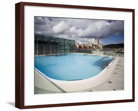 Roof Top Pool in New Royal Bath, Thermae Bath Spa, Bath, Avon, England, United Kingdom-Matthew Davison-Framed Art Print