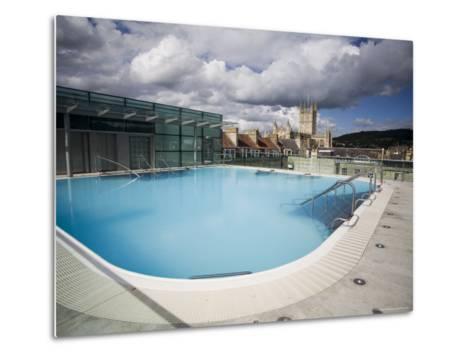 Roof Top Pool in New Royal Bath, Thermae Bath Spa, Bath, Avon, England, United Kingdom-Matthew Davison-Metal Print