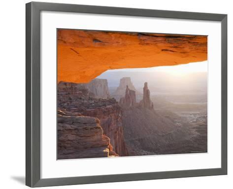 Sunrise, Mesa Arch, Canyonlands National Park, Utah, USA-Angelo Cavalli-Framed Art Print