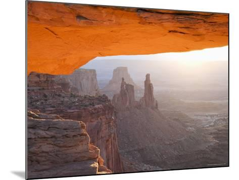 Sunrise, Mesa Arch, Canyonlands National Park, Utah, USA-Angelo Cavalli-Mounted Photographic Print