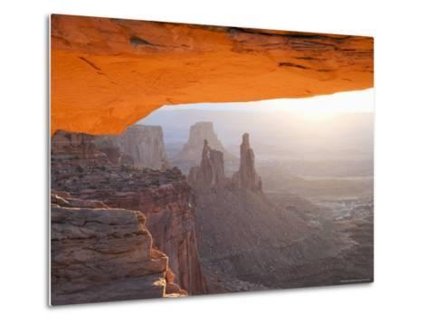 Sunrise, Mesa Arch, Canyonlands National Park, Utah, USA-Angelo Cavalli-Metal Print