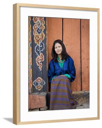 Bhutanese Woman, Jankar, Bumthang, Bhutan-Angelo Cavalli-Framed Art Print