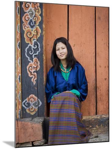 Bhutanese Woman, Jankar, Bumthang, Bhutan-Angelo Cavalli-Mounted Photographic Print