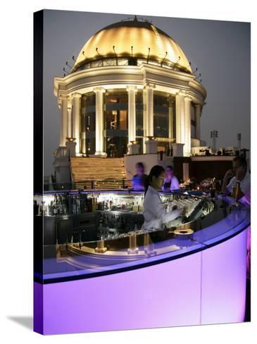 The Sirocco Bar, on Top of State Tower, Bangkok, Thailand, Southeast Asia-Angelo Cavalli-Stretched Canvas Print