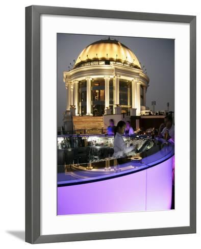 The Sirocco Bar, on Top of State Tower, Bangkok, Thailand, Southeast Asia-Angelo Cavalli-Framed Art Print