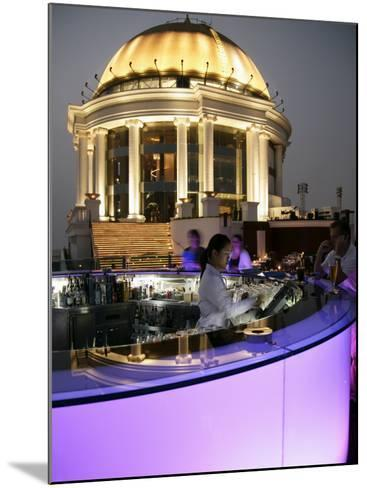 The Sirocco Bar, on Top of State Tower, Bangkok, Thailand, Southeast Asia-Angelo Cavalli-Mounted Photographic Print