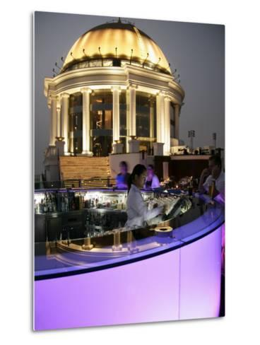 The Sirocco Bar, on Top of State Tower, Bangkok, Thailand, Southeast Asia-Angelo Cavalli-Metal Print