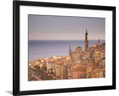 Menton, Alpes Maritimes, Provence, Cote d'Azur, French Riviera, France, Mediterranean-Angelo Cavalli-Framed Art Print