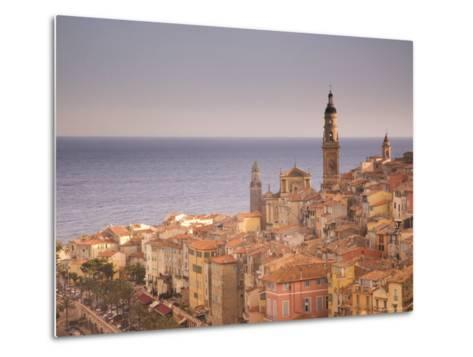 Menton, Alpes Maritimes, Provence, Cote d'Azur, French Riviera, France, Mediterranean-Angelo Cavalli-Metal Print