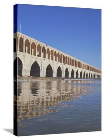 Allahverdi Khan Bridge River, Isfahan, Middle East-Robert Harding-Stretched Canvas Print