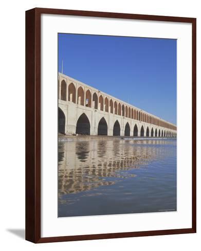 Allahverdi Khan Bridge River, Isfahan, Middle East-Robert Harding-Framed Art Print