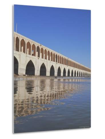 Allahverdi Khan Bridge River, Isfahan, Middle East-Robert Harding-Metal Print