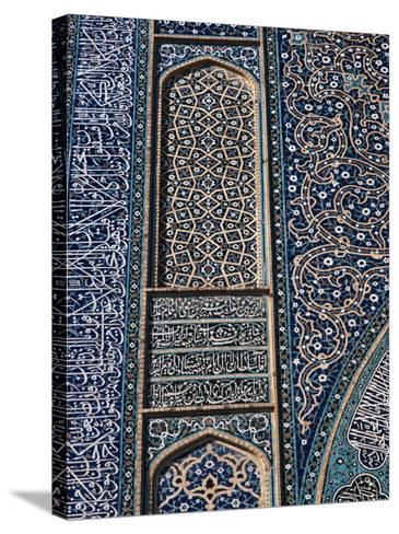 Detail of Tilework, Friday Mosque, Isfahan, Iran, Middle East-Robert Harding-Stretched Canvas Print