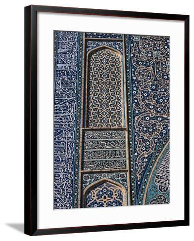 Detail of Tilework, Friday Mosque, Isfahan, Iran, Middle East-Robert Harding-Framed Art Print