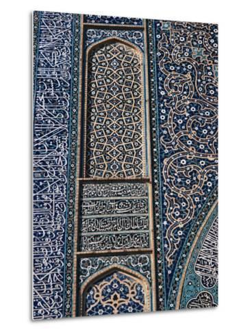 Detail of Tilework, Friday Mosque, Isfahan, Iran, Middle East-Robert Harding-Metal Print