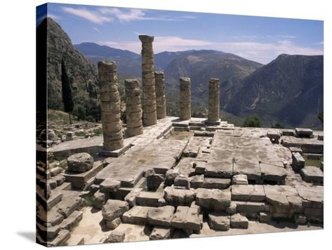 Temple of Apollo, Delphi, Unesco World Heritage Site, Greece-Ken Gillham-Stretched Canvas Print