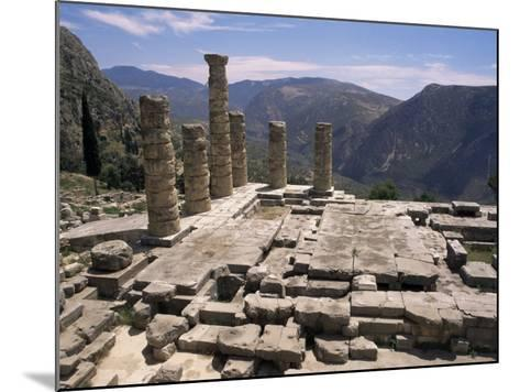 Temple of Apollo, Delphi, Unesco World Heritage Site, Greece-Ken Gillham-Mounted Photographic Print