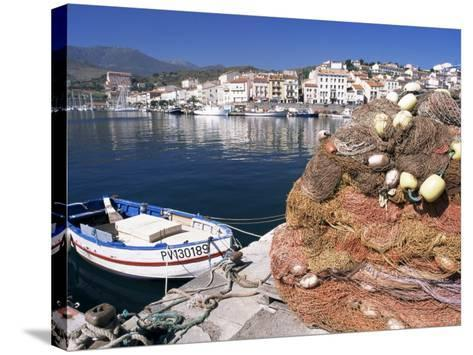 Fishing Nets, Port Vendres, Catalan Coast, Roussillon, France-Ken Gillham-Stretched Canvas Print
