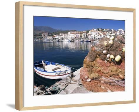 Fishing Nets, Port Vendres, Catalan Coast, Roussillon, France-Ken Gillham-Framed Art Print