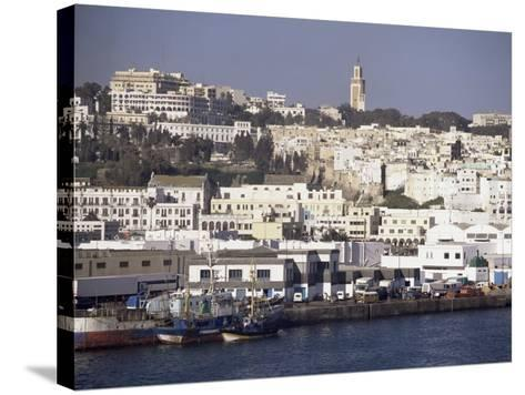Harbour View to Old Town and Kasbah, Tangier, Morocco, North Africa, Africa-Ken Gillham-Stretched Canvas Print