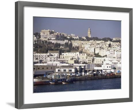 Harbour View to Old Town and Kasbah, Tangier, Morocco, North Africa, Africa-Ken Gillham-Framed Art Print
