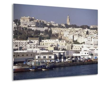 Harbour View to Old Town and Kasbah, Tangier, Morocco, North Africa, Africa-Ken Gillham-Metal Print