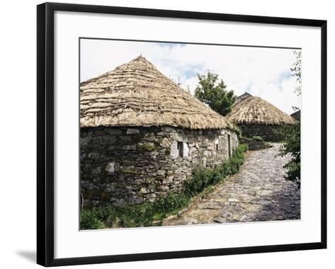 Rounded Thatched Pallozas of Celtic Origin, Cebreiro, Lugo Area, Galicia, Spain-Ken Gillham-Framed Art Print