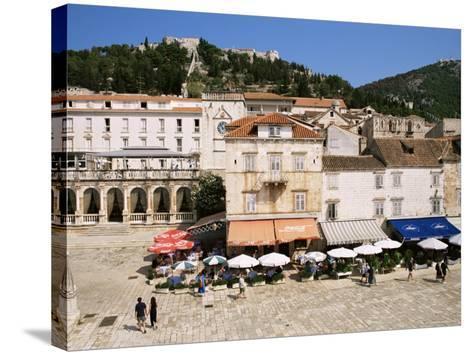 Main Square, Hvar, Hvar Island, Croatia-Ken Gillham-Stretched Canvas Print