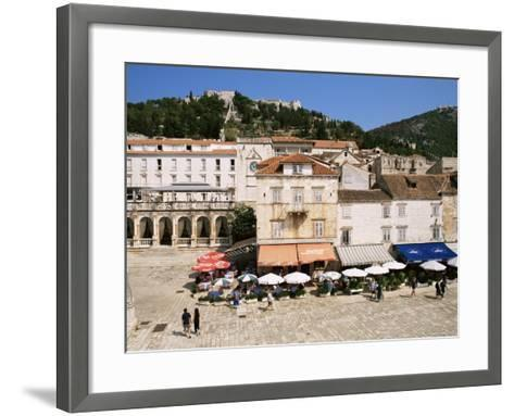 Main Square, Hvar, Hvar Island, Croatia-Ken Gillham-Framed Art Print
