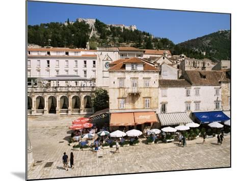 Main Square, Hvar, Hvar Island, Croatia-Ken Gillham-Mounted Photographic Print