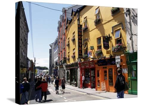 Colourful Facades, Galway, County Galway, Connacht, Eire (Republic of Ireland)-Ken Gillham-Stretched Canvas Print