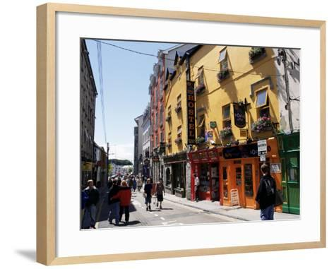 Colourful Facades, Galway, County Galway, Connacht, Eire (Republic of Ireland)-Ken Gillham-Framed Art Print