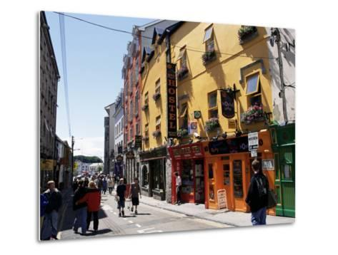 Colourful Facades, Galway, County Galway, Connacht, Eire (Republic of Ireland)-Ken Gillham-Metal Print