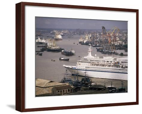 Shanghai Harbour, Shanghai, China-Ken Gillham-Framed Art Print