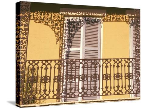 Iron Lace Balcony, New Orleans, Louisiana, USA-Ken Gillham-Stretched Canvas Print