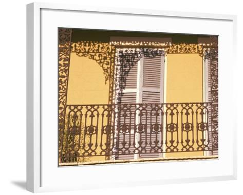Iron Lace Balcony, New Orleans, Louisiana, USA-Ken Gillham-Framed Art Print