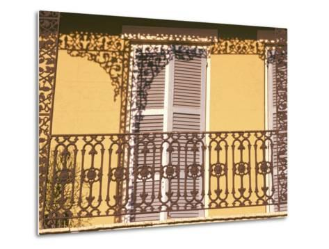Iron Lace Balcony, New Orleans, Louisiana, USA-Ken Gillham-Metal Print