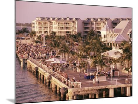 Crowds Viewing Sunset, Key West, Florida, USA-Ken Gillham-Mounted Photographic Print
