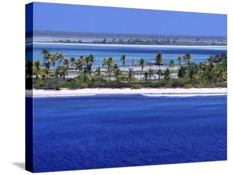 Aerial View of Christmas Island, Kiribati-Ken Gillham-Stretched Canvas Print