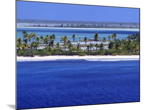 Aerial View of Christmas Island, Kiribati-Ken Gillham-Mounted Photographic Print