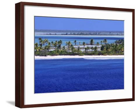 Aerial View of Christmas Island, Kiribati-Ken Gillham-Framed Art Print