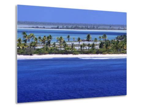 Aerial View of Christmas Island, Kiribati-Ken Gillham-Metal Print