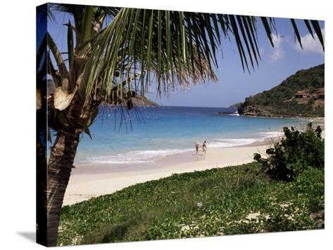 Beach at Anse Des Flamands, St. Barthelemy, West Indies, Central America-Ken Gillham-Stretched Canvas Print