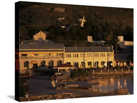 Harbourfront at Sunset, St. Croix, U.S. Virgin Islands, West Indies, Central America-Ken Gillham-Stretched Canvas Print