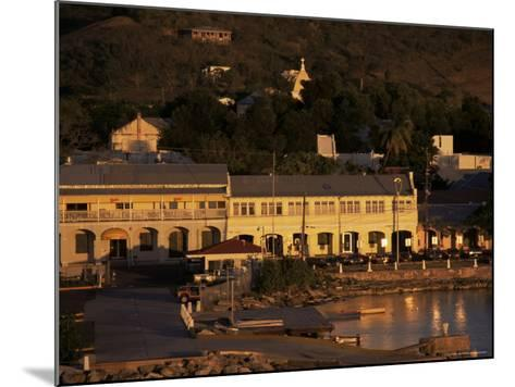 Harbourfront at Sunset, St. Croix, U.S. Virgin Islands, West Indies, Central America-Ken Gillham-Mounted Photographic Print