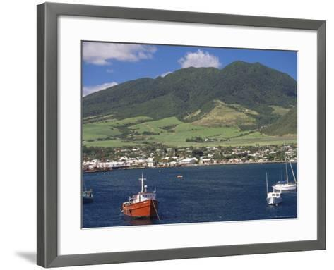 View to Basseterre, St. Kitts, Leeward Islands, West Indies, Caribbean, Central America-Ken Gillham-Framed Art Print