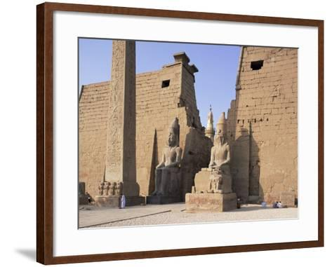 Colossi of Rameses II, Luxor Temple, Luxor, Unesco World Heritage Site, Thebes, Egypt-Peter Scholey-Framed Art Print