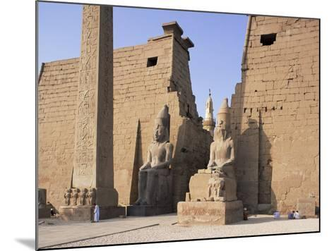 Colossi of Rameses II, Luxor Temple, Luxor, Unesco World Heritage Site, Thebes, Egypt-Peter Scholey-Mounted Photographic Print