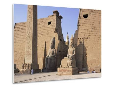 Colossi of Rameses II, Luxor Temple, Luxor, Unesco World Heritage Site, Thebes, Egypt-Peter Scholey-Metal Print